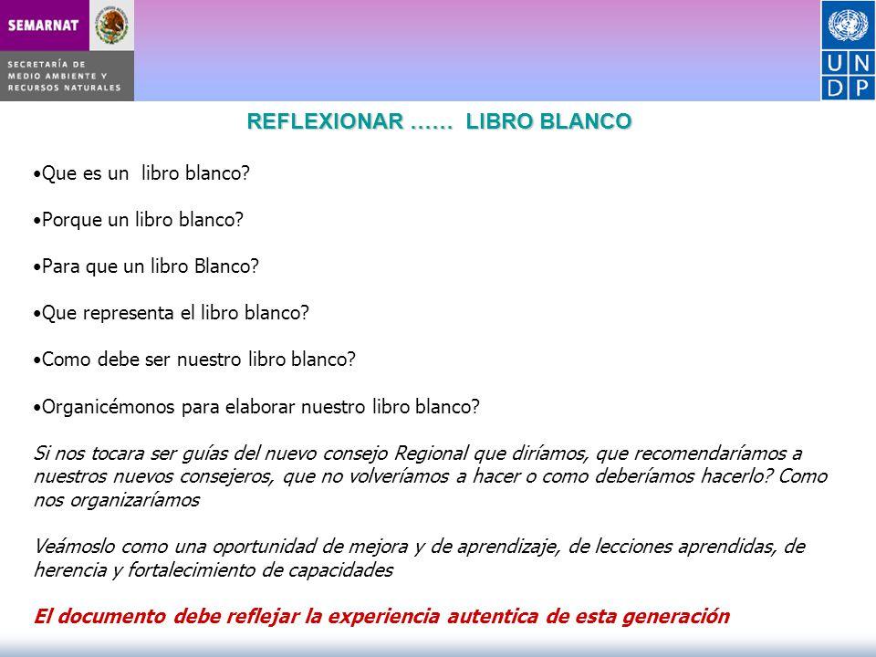 REFLEXIONAR …… LIBRO BLANCO Que es un libro blanco? Porque un libro blanco? Para que un libro Blanco? Que representa el libro blanco? Como debe ser nu