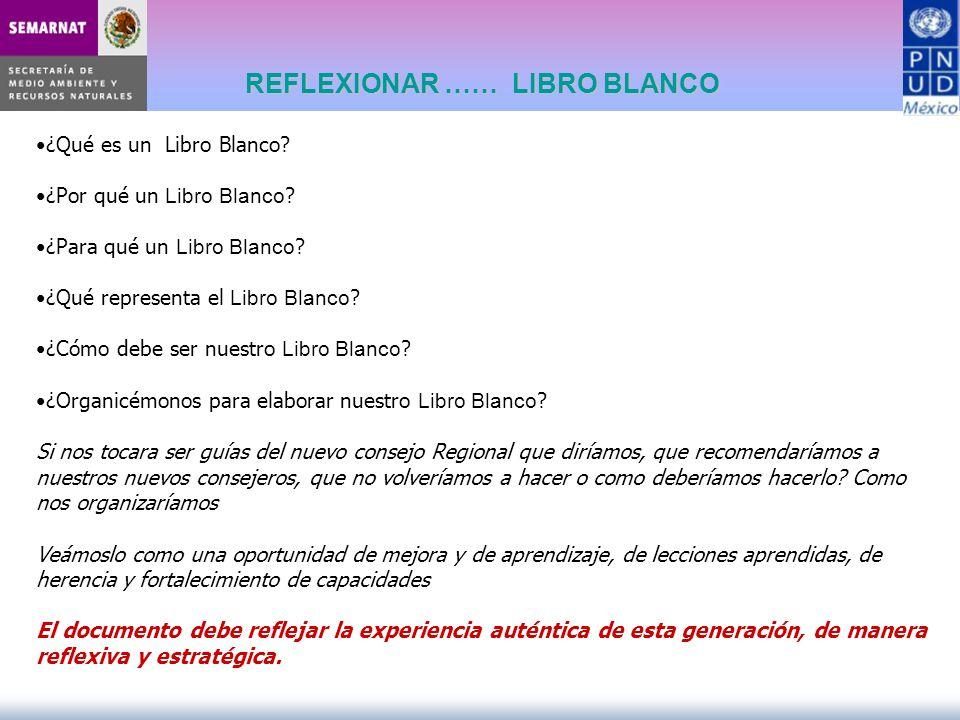 REFLEXIONAR …… LIBRO BLANCO ¿Qué es un Libro Blanco? ¿Por qué un Libro Blanco ? ¿Para qué un Libro Blanco ? ¿Qué representa el Libro Blanco ? ¿Cómo de