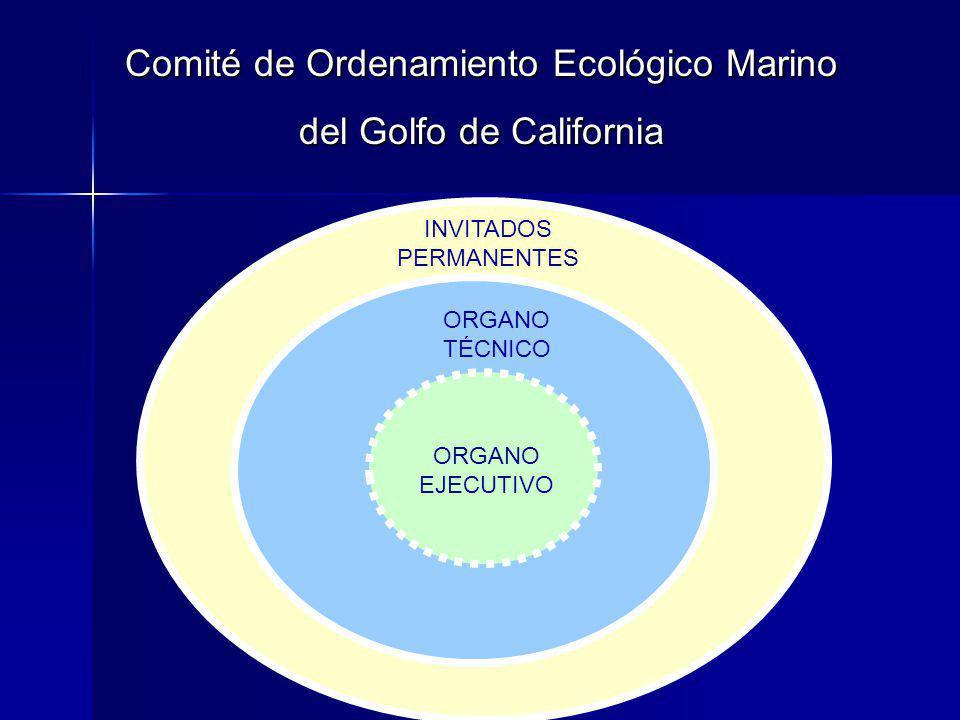 Comité de Ordenamiento Ecológico Marino del Golfo de California INVITADOS PERMANENTES ORGANO EJECUTIVO ORGANO TÉCNICO