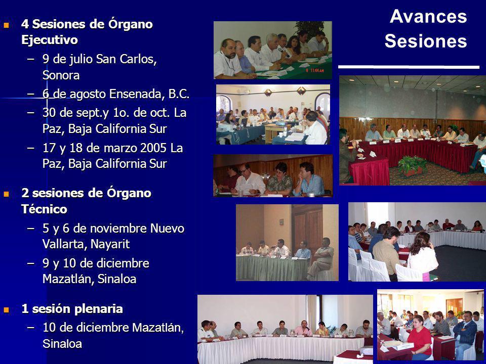 4 Sesiones de Ó rgano Ejecutivo 4 Sesiones de Ó rgano Ejecutivo –9 de julio San Carlos, Sonora –6 de agosto Ensenada, B.C.