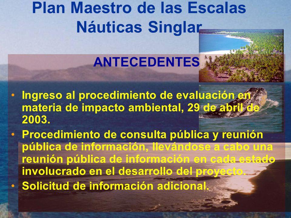 Plan Maestro de las Escalas Náuticas Singlar Condicionantes Establecidas 11.