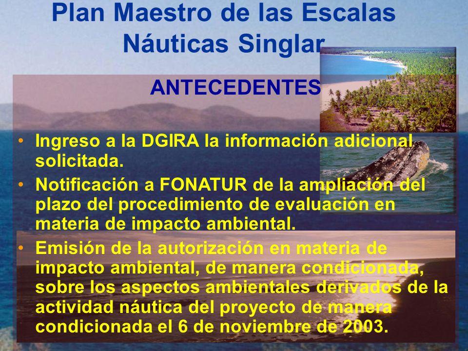 Plan Maestro de las Escalas Náuticas Singlar Condicionantes Establecidas 12.
