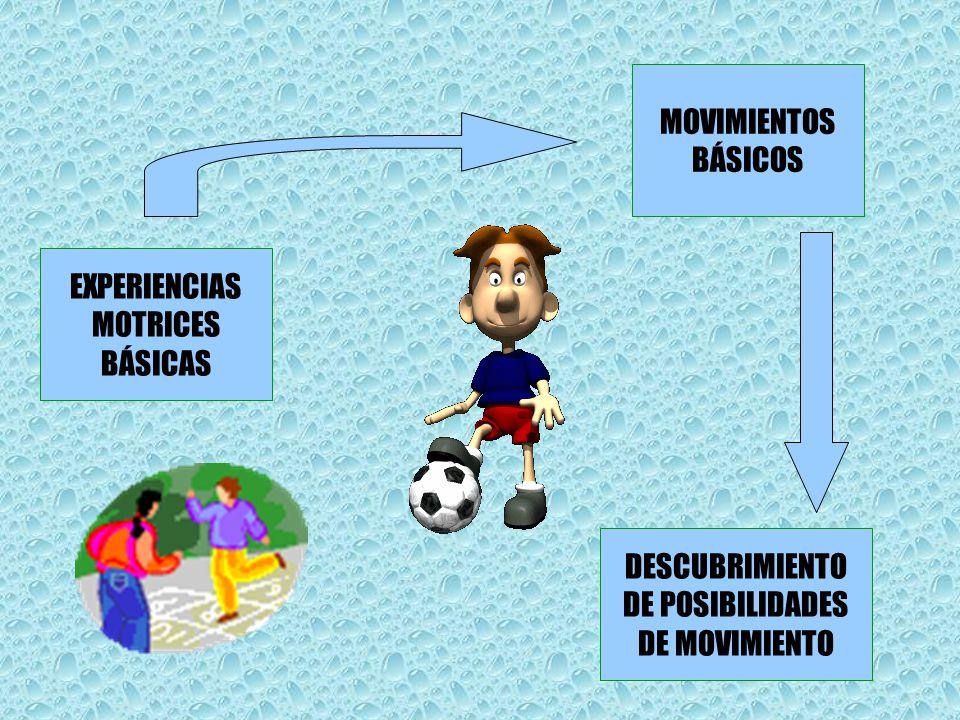 EXPERIENCIAS MOTRICES BÁSICAS MOVIMIENTOS BÁSICOS DESCUBRIMIENTO DE POSIBILIDADES DE MOVIMIENTO