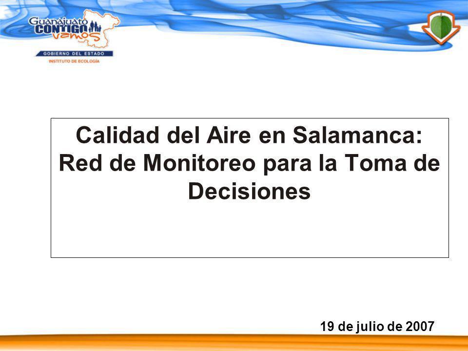 12 Estaciones 1 Movil 5 Municipios LEON SILAO IRAPUATO SALAMANCA CELAYA RED DE MONITOREO