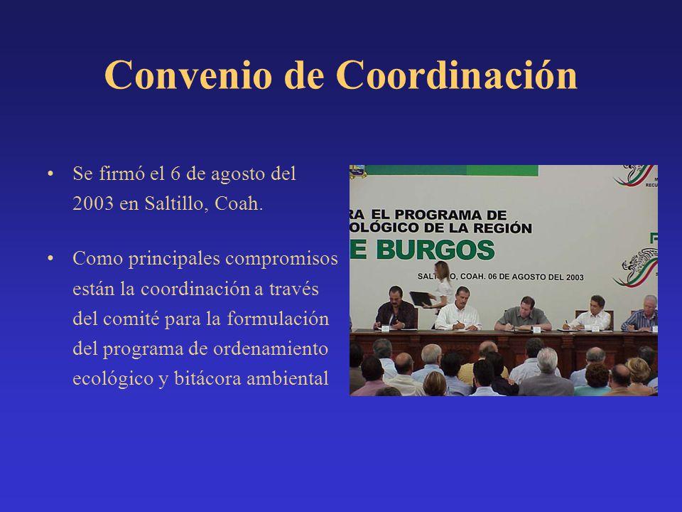 Se firmó el 6 de agosto del 2003 en Saltillo, Coah. Como principales compromisos están la coordinación a través del comité para la formulación del pro