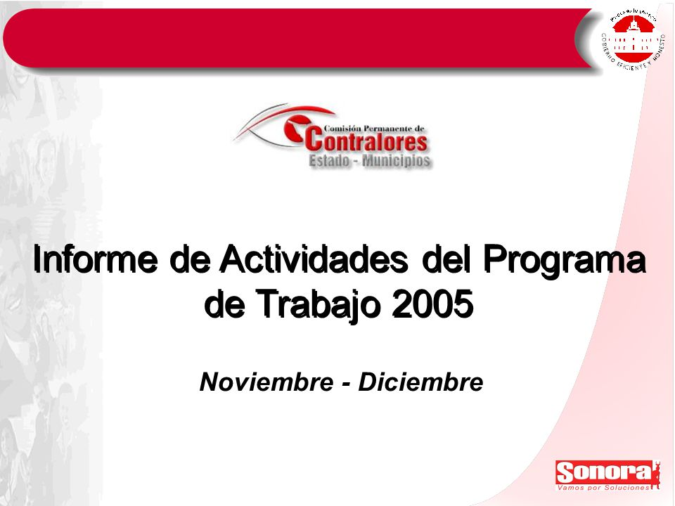 Informe de Actividades del Programa de Trabajo 2005 Noviembre - Diciembre