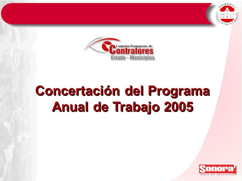 Concertación del Programa Anual de Trabajo 2005