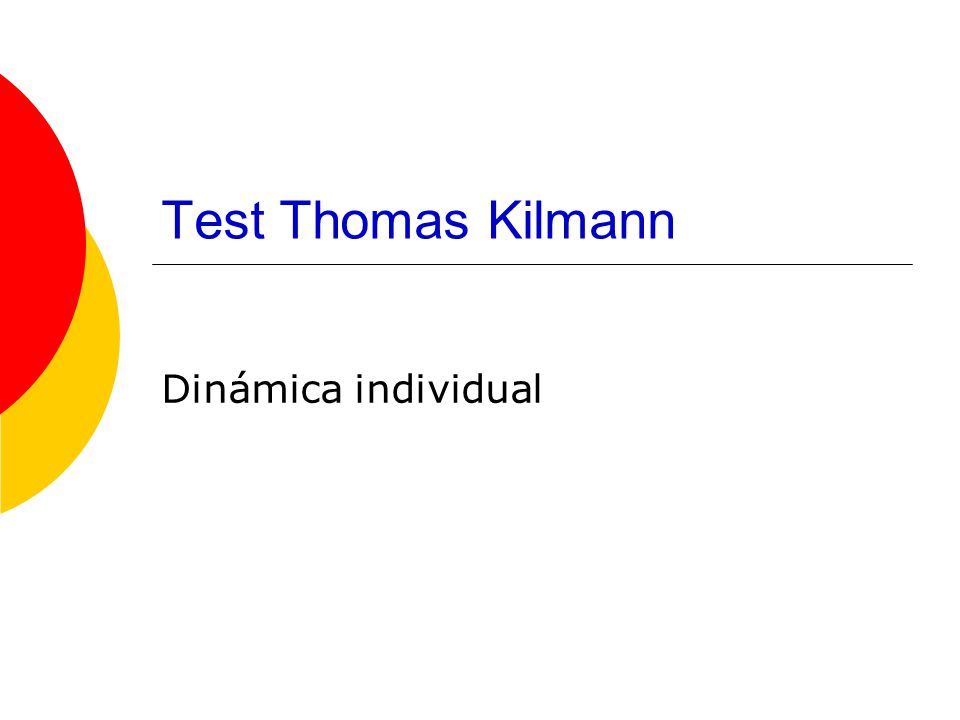 Test Thomas Kilmann Dinámica individual