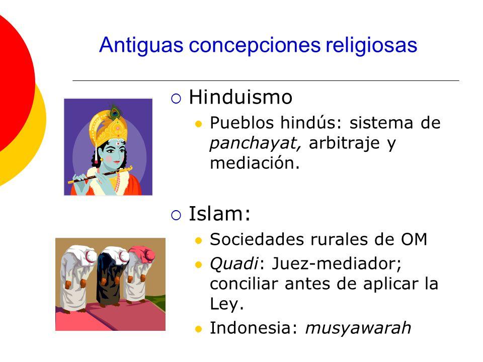 Hinduismo Pueblos hindús: sistema de panchayat, arbitraje y mediación.