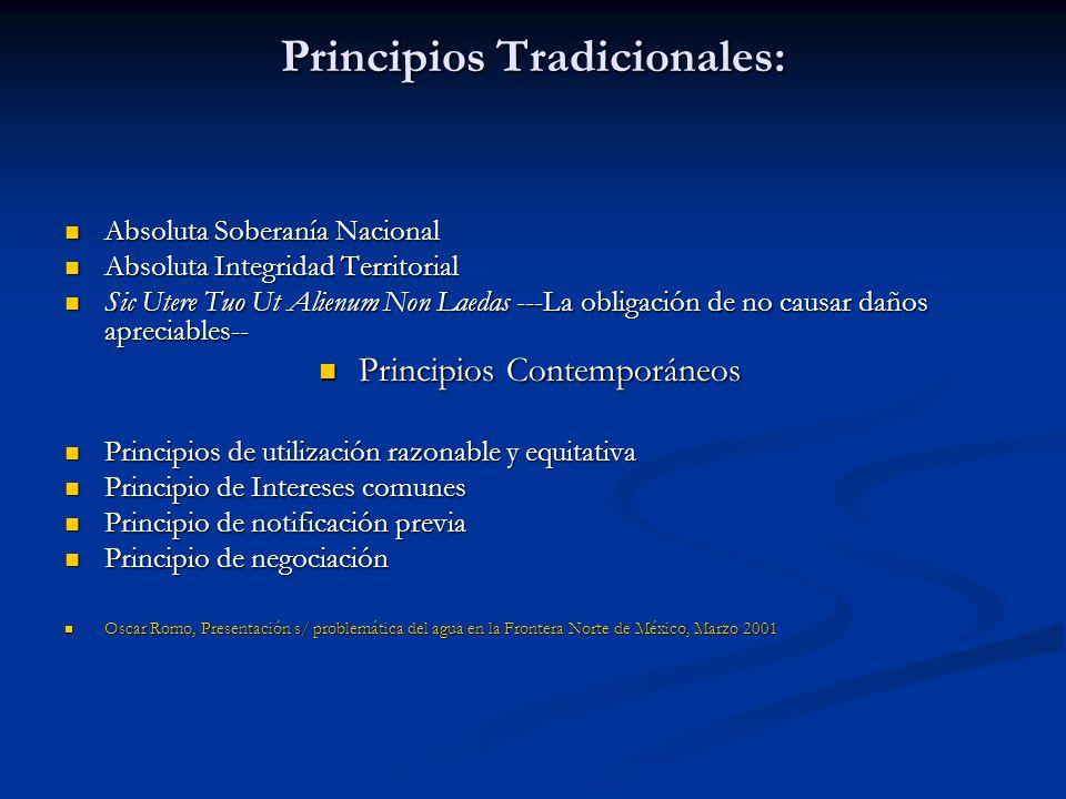 Principios Tradicionales: Absoluta Soberanía Nacional Absoluta Soberanía Nacional Absoluta Integridad Territorial Absoluta Integridad Territorial Sic
