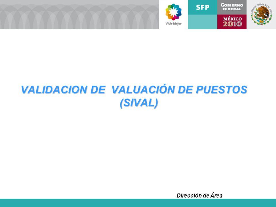 VALIDACION DE VALUACIÓN DE PUESTOS (SIVAL)