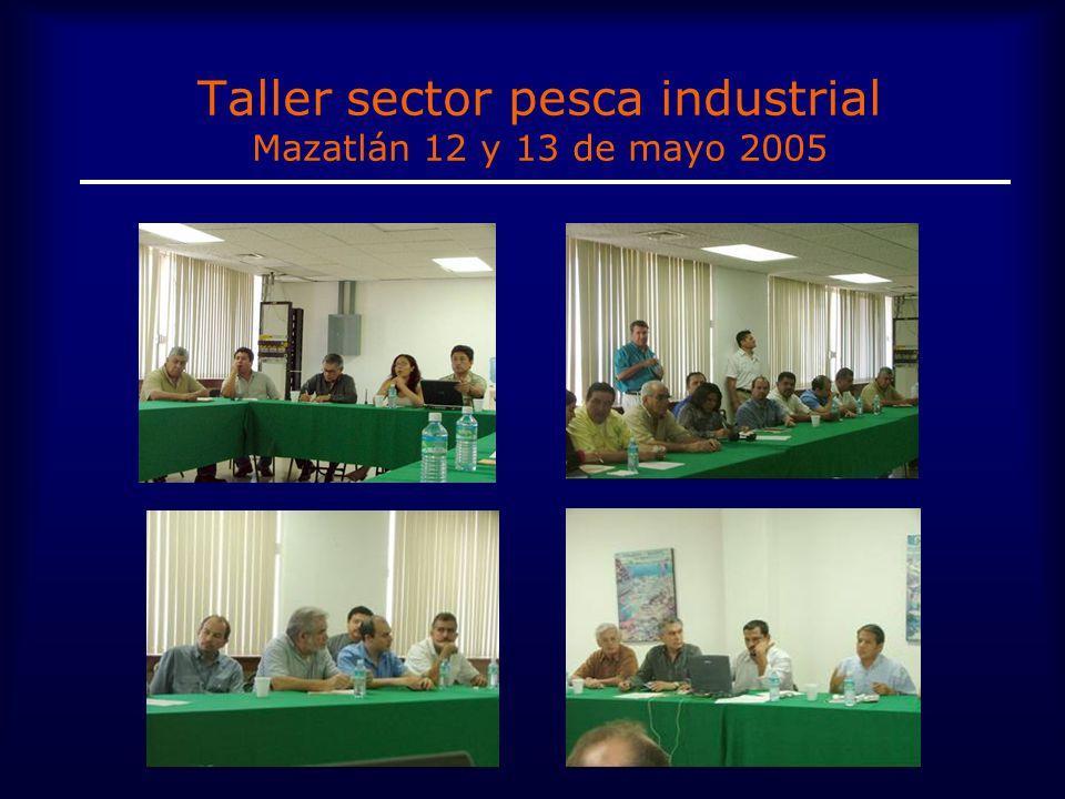 Taller sector pesca industrial Mazatlán 12 y 13 de mayo 2005