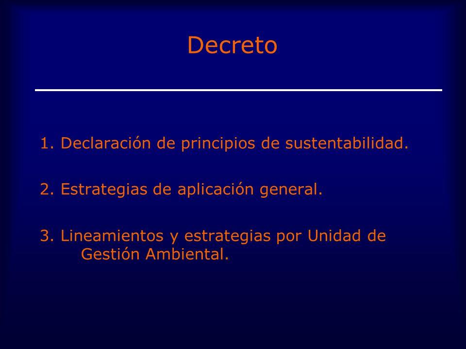 Decreto 1.Declaración de principios de sustentabilidad.