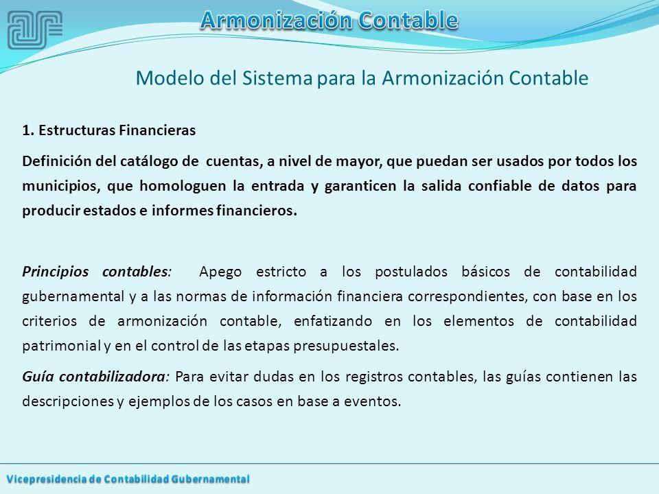 Modelo del Sistema para la Armonización Contable 1.