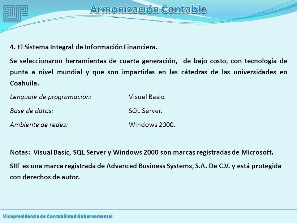 4.El Sistema Integral de Información Financiera.