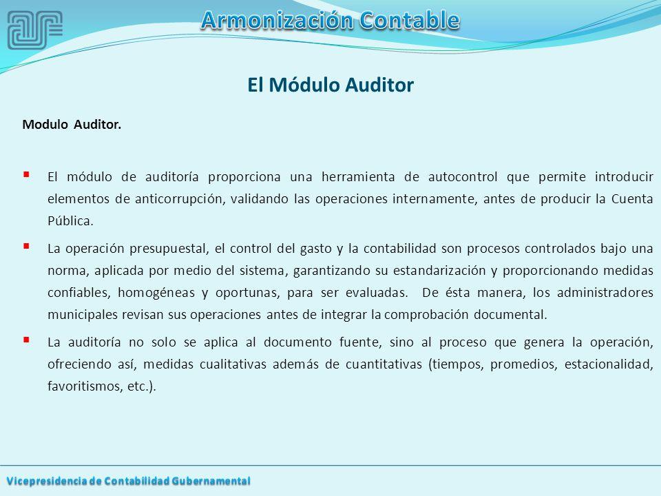 El Módulo Auditor Modulo Auditor.