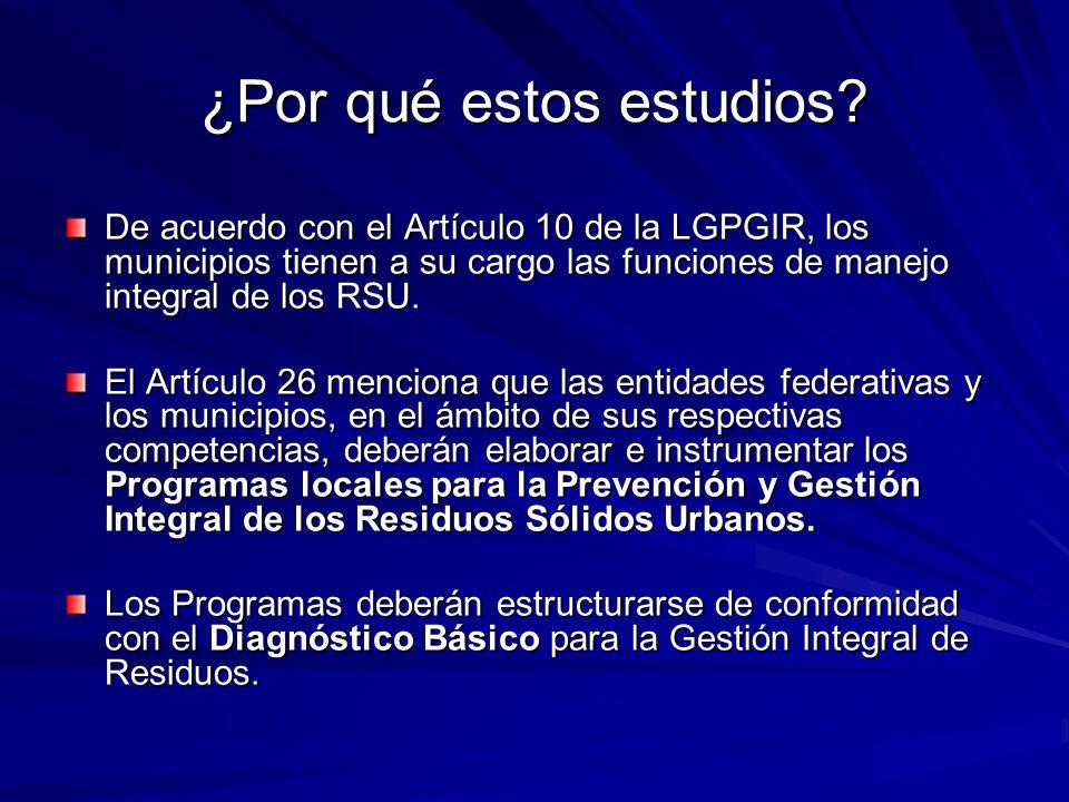 De acuerdo con el Artículo 10 de la LGPGIR, los municipios tienen a su cargo las funciones de manejo integral de los RSU.