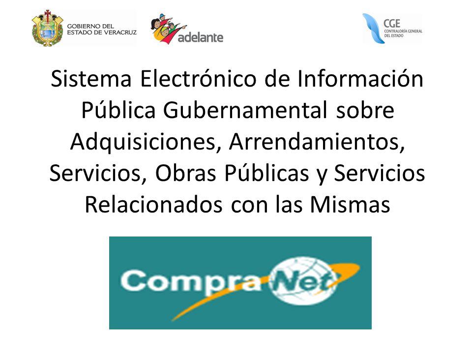 Sistema Electrónico de Información Pública Gubernamental sobre Adquisiciones, Arrendamientos, Servicios, Obras Públicas y Servicios Relacionados con l