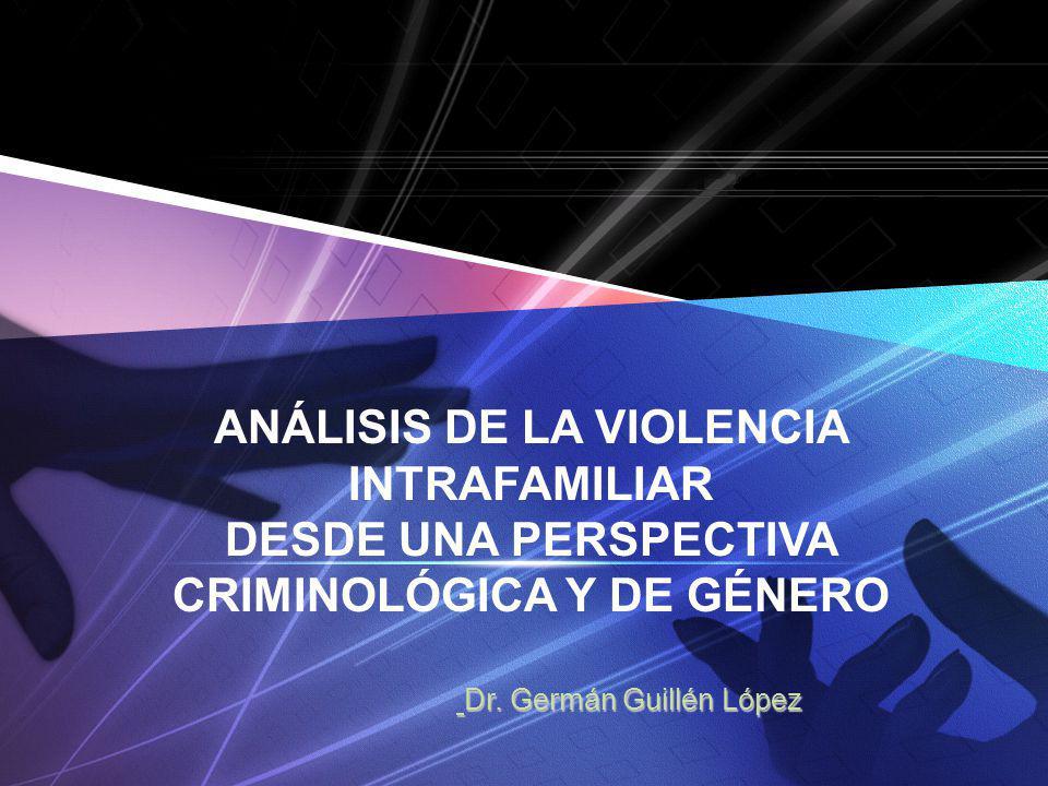 www.themegallery.com ANÁLISIS DE LA VIOLENCIA INTRAFAMILIAR DESDE UNA PERSPECTIVA CRIMINOLÓGICA Y DE GÉNERO Dr. Germán Guillén López Dr. Germán Guillé