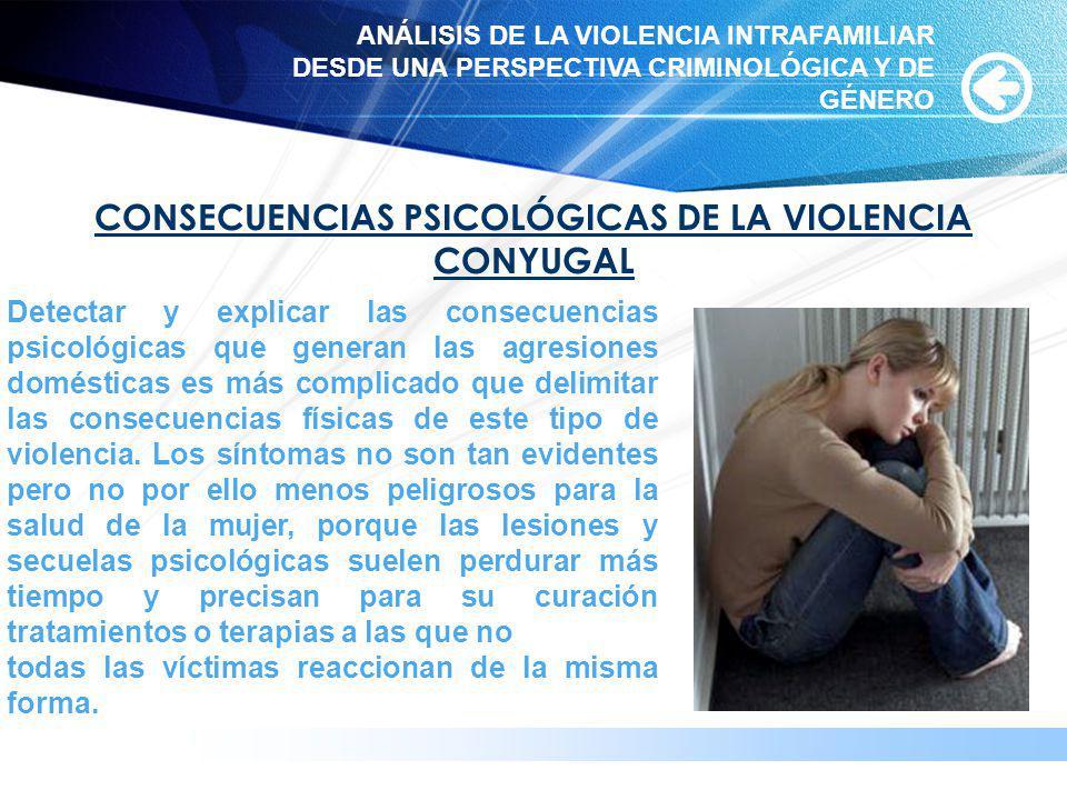 www.themegallery.com CONSECUENCIAS PSICOLÓGICAS DE LA VIOLENCIA CONYUGAL Detectar y explicar las consecuencias psicológicas que generan las agresiones