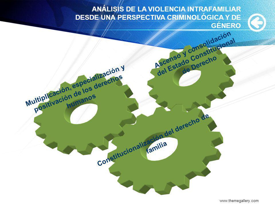 www.themegallery.com Multiplicación, especialización y positivación de los derechos humanos Ascenso y consolidación del Estado Constitucional de Derec