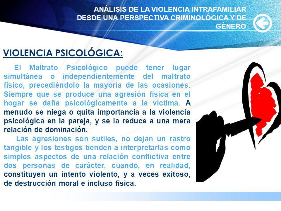 www.themegallery.com VIOLENCIA PSICOLÓGICA: El Maltrato Psicológico puede tener lugar simultánea o independientemente del maltrato físico, precediéndo
