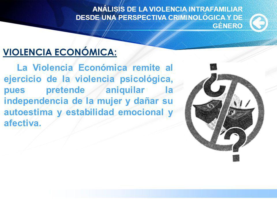 www.themegallery.com VIOLENCIA ECONÓMICA: La Violencia Económica remite al ejercicio de la violencia psicológica, pues pretende aniquilar la independe