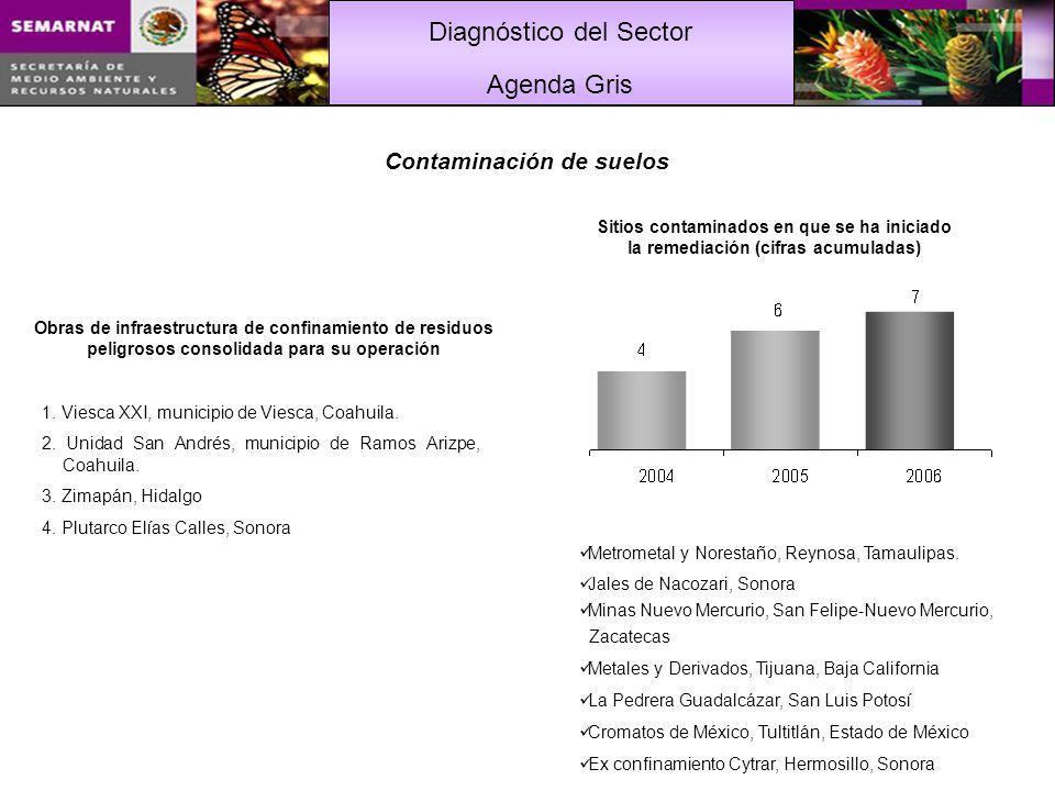 Diagnóstico del Sector Disponibilidad natural media per cápita de agua (m 3 /hab/año) Agenda Azul e/ Dato estimado Fuente: Estadísticas del agua en México.