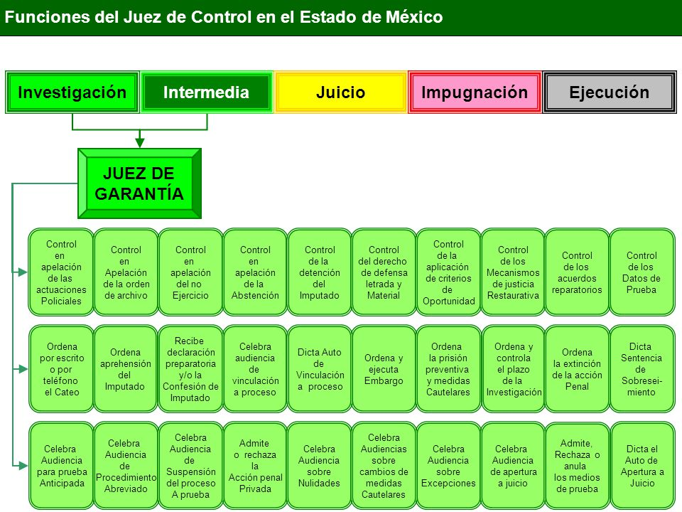 JUEZ DE GARNATÍA HIPÓTESIS DELICTIVA Etapas desformalizadasEtapas jurisdiccionalizadas Técnicas de Investigación Cateo Flagrancia