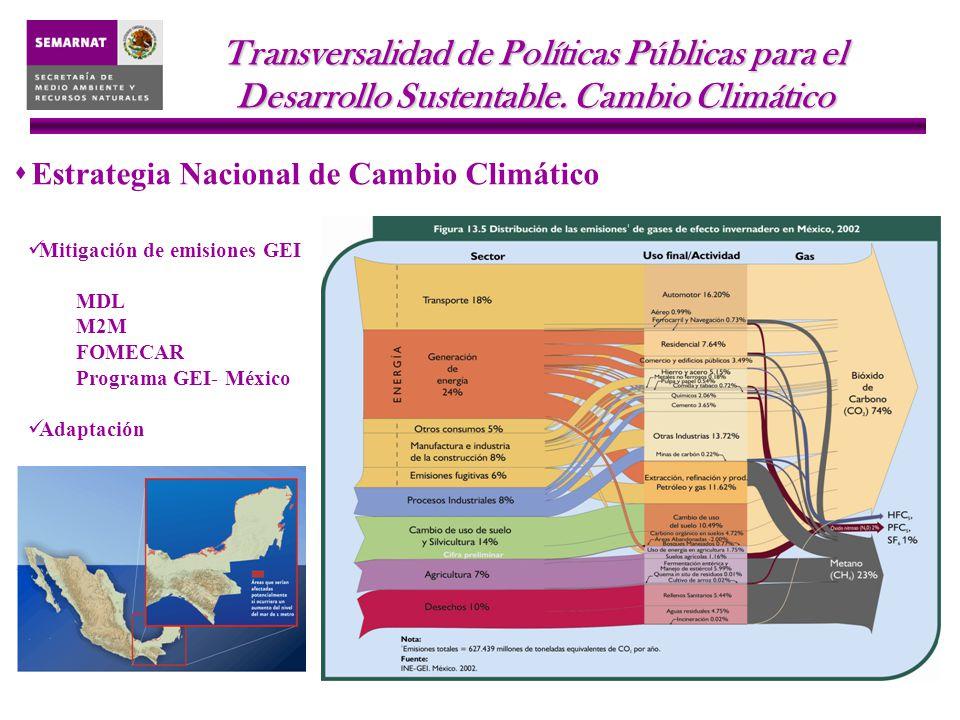 Transversalidad de Políticas Públicas para el Desarrollo Sustentable.