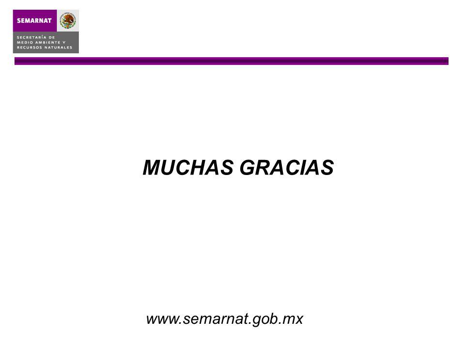 MUCHAS GRACIAS www.semarnat.gob.mx