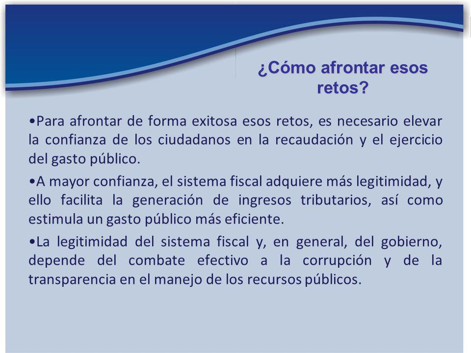 La legitimidad fiscal refleja la confianza que los ciudadanos depositan en la labor del gobierno en la recaudación y el gasto de los ingresos tributarios.