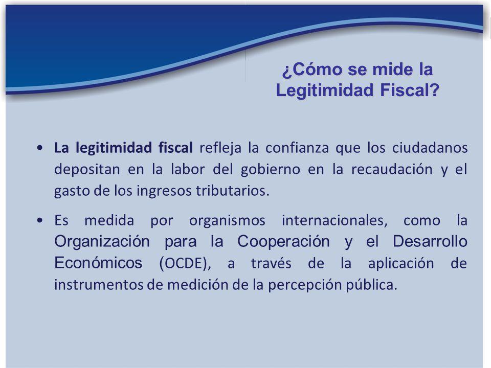 En los países desarrollados, la legitimidad fiscal es alta, mientras que en América Latina es baja.