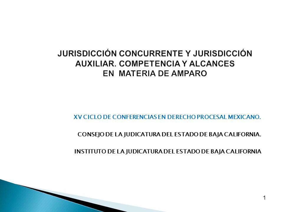 1 JURISDICCIÓN CONCURRENTE Y JURISDICCIÓN AUXILIAR. COMPETENCIA Y ALCANCES JURISDICCIÓN CONCURRENTE Y JURISDICCIÓN AUXILIAR. COMPETENCIA Y ALCANCES EN