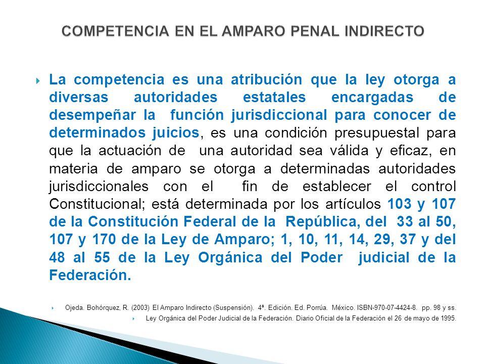 La competencia es una atribución que la ley otorga a diversas autoridades estatales encargadas de desempeñar la función jurisdiccional para conocer de