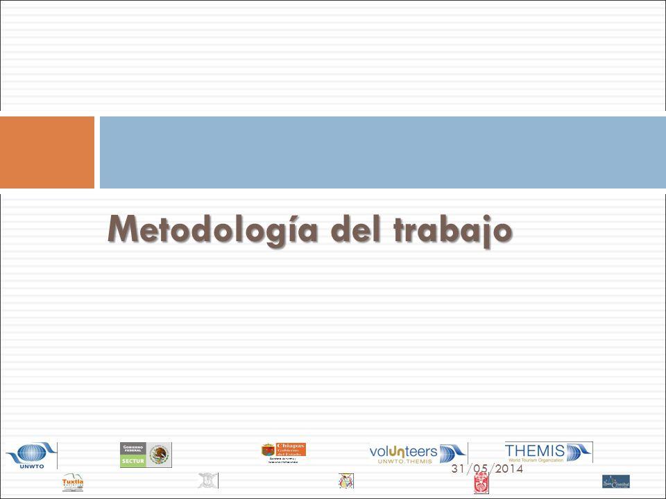 31/05/2014 Secretaría de Turismo y Relaciones Internacionales Metodología del trabajo