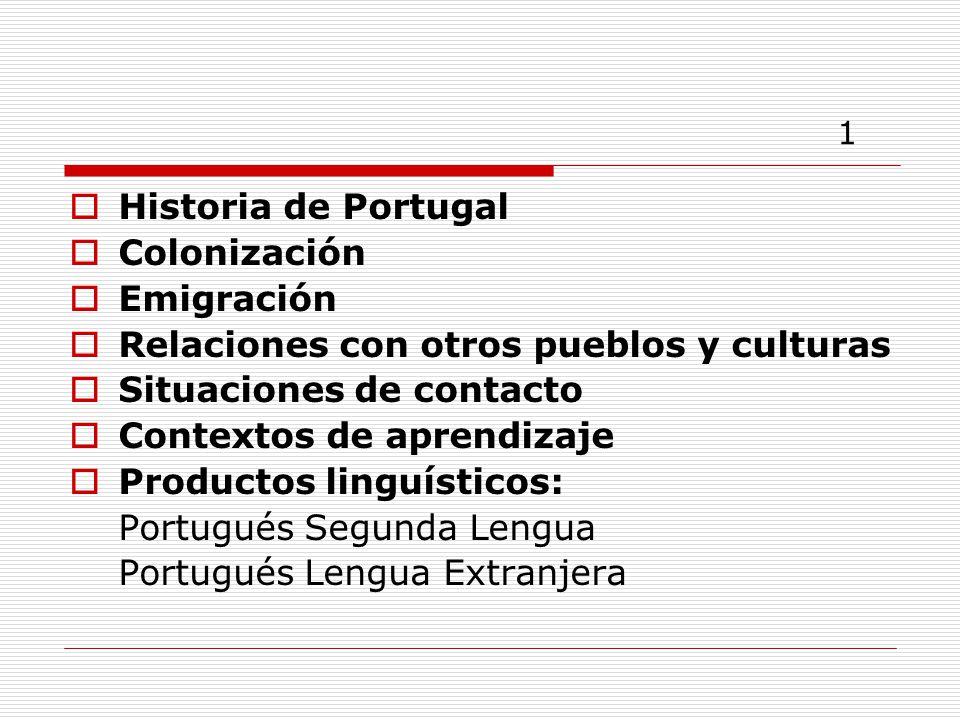Papel del Ministerio de Educación de Portugal 22 Enseñanza de portugués en el extranjero, de niveles básico y secundario.
