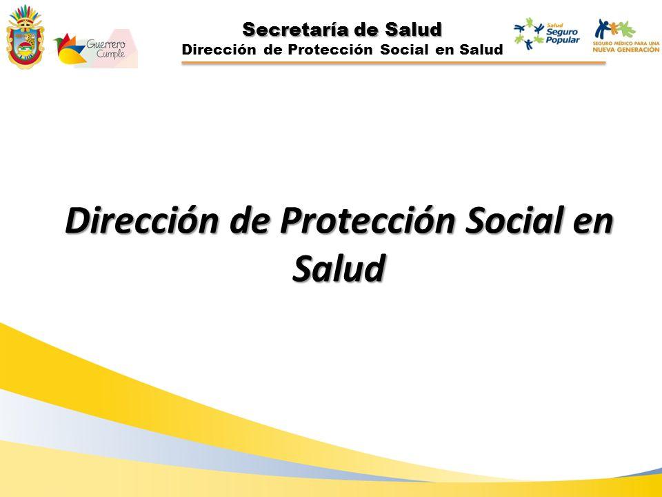 Secretaría de Salud Dirección de Protección Social en Salud