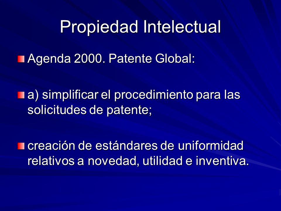 Propiedad Intelectual Agenda 2000.