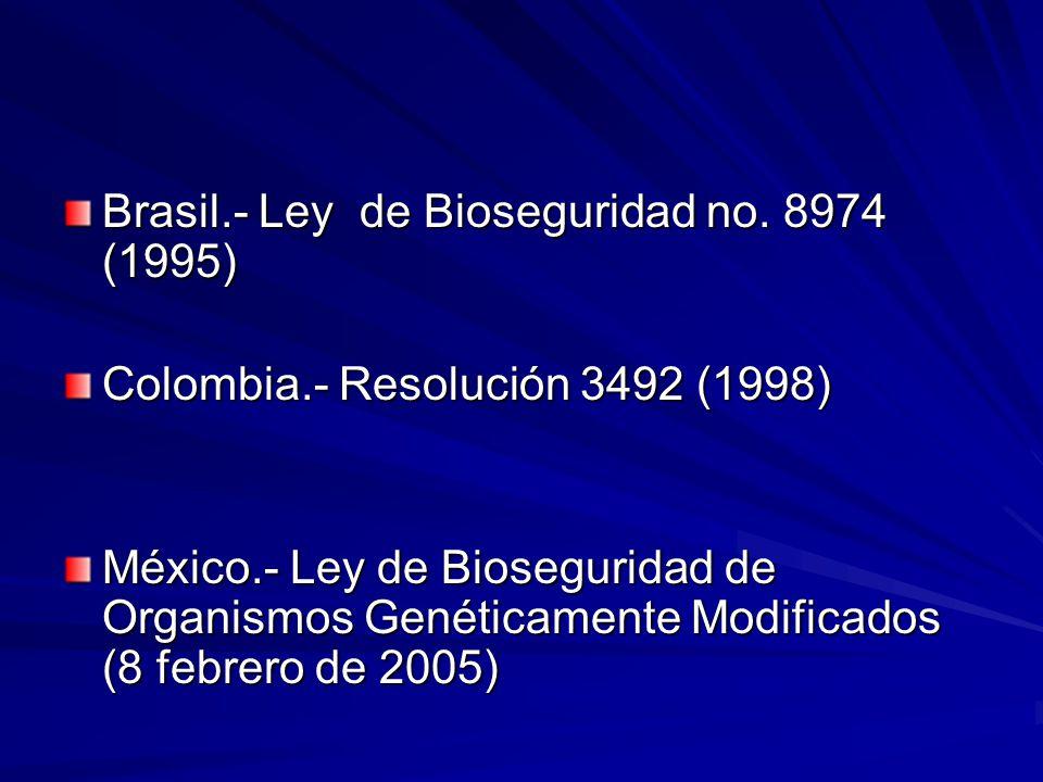 Brasil.- Ley de Bioseguridad no.