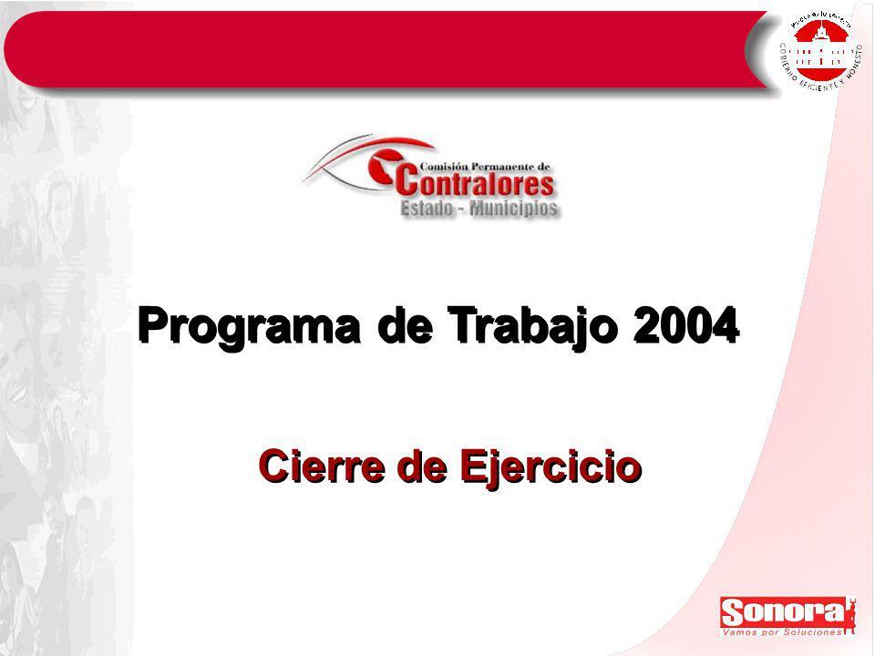 Programa de Trabajo 2004 Cierre de Ejercicio