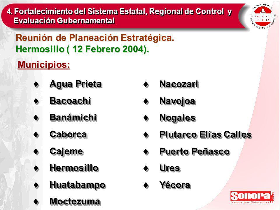 Reunión de Planeación Estratégica. Hermosillo ( 12 Febrero 2004).