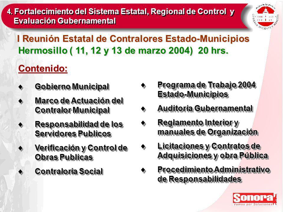 Hermosillo ( 11, 12 y 13 de marzo 2004) 20 hrs.