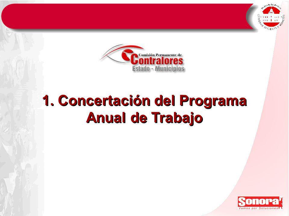 1. Concertación del Programa Anual de Trabajo