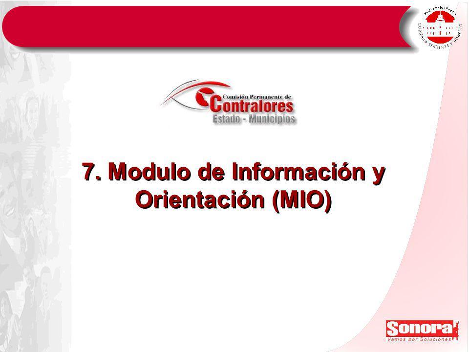 7. Modulo de Información y Orientación (MIO)