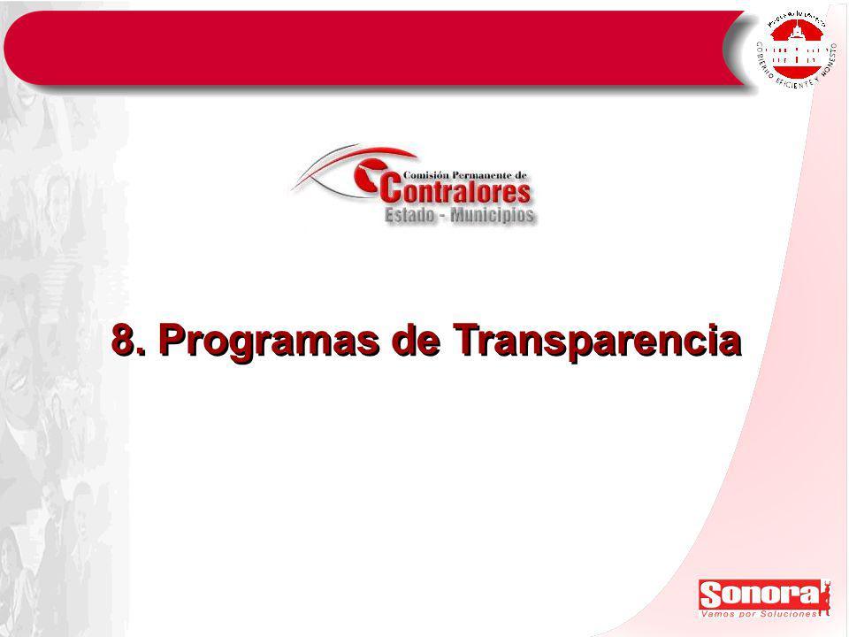 8. Programas de Transparencia