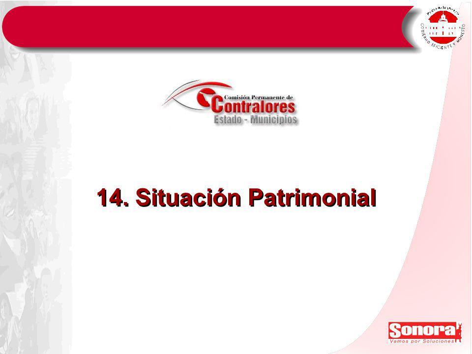 14. Situación Patrimonial