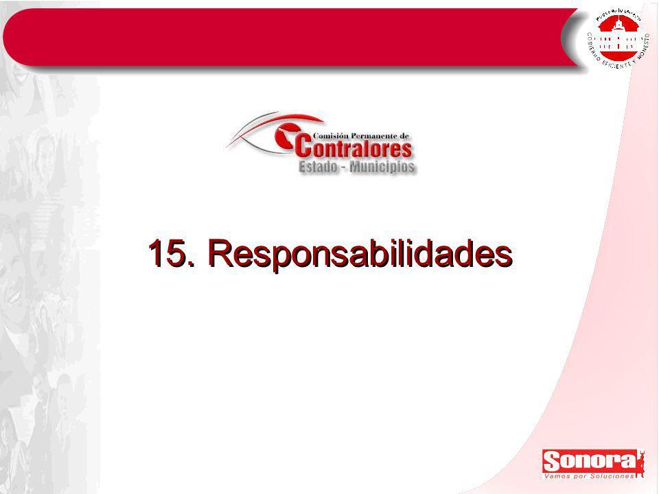 15. Responsabilidades