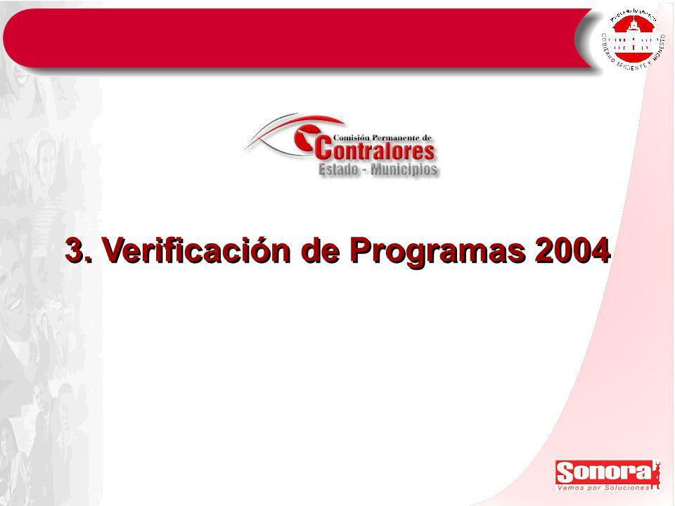 3. Verificación de Programas 2004