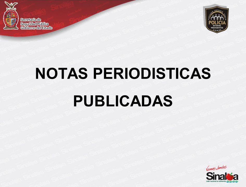 NOTAS PERIODISTICAS PUBLICADAS
